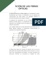 Atenuación de Las Fibras Ópticas