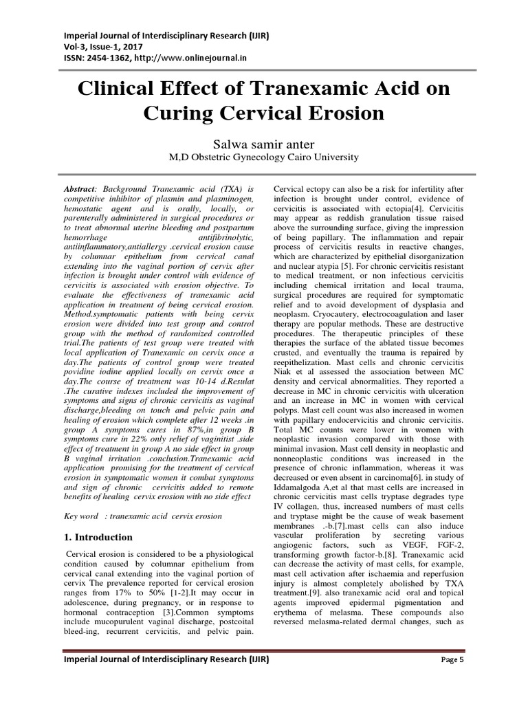Treatment of cervical erosion and pregnancy
