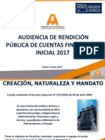 Audiencia de Rendición Pública de Cuentas Final 2016 - Inicial 2017 - AE