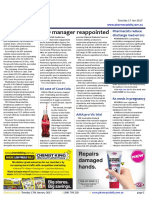 Pharmacy Daily for Tue 17 Jan 2017 - CSO manager reappointed, Pharmacy finger-prick tool, MedAdvisor records strong quarter, Guild Update and much more