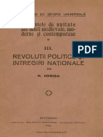 Elementele de Unitate Ale Lumii Medievale Moderne Şi Contemporane Volumul 3 Revoluţii Politice Şi Întregiri Naţionale