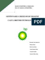 British Petroleum- Gestionarea crizelor de imagine