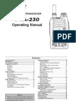 FTA-230 Owners Manual 12-4-2012