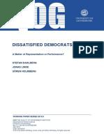 Dahlberg & Holmberg - Understanding Satisfaction With the Way Democracy Works__Democracy Versus Bureaucracy