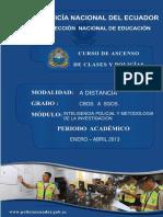 Inteligencia Policial y Metodologia de La Investigacion - 2013