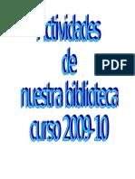Actividades de La Bibliotecaiescarolina Curso 09-10