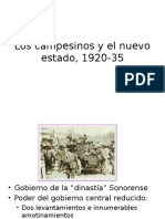 Los Campesinos y El Nuevo Estado, 1920-35