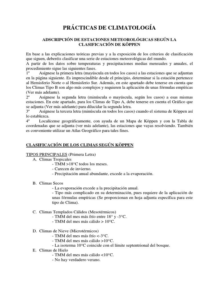 Cuadernillo Practicas Koppen Meteo-Clima