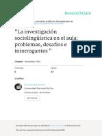 La Investigación Sociolingüística en El Aula