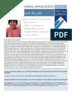 benally elizabeth student teaching application 2017