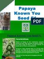 Papaya FARMEX Crecimiento