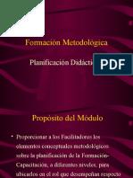 [6] Formación Metodológica Tema VI - Planificación Didactica I