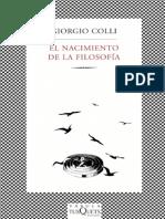 El Nacimiento De La Filosofia - Giorgio Colli.pdf