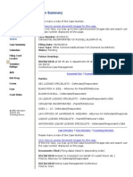 Cirgadyne v Bloom - Case Summary as of 6-28-2010