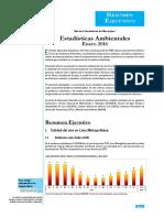 Informe Tecnico Estadisticas Ambientales Ene2016