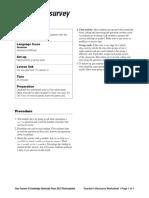 Four Corners Level3 Unit10 Class Survey Teachers Resource Worksheet1