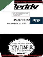 GReddy Integra Turbo Kit Installation Manual