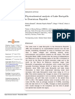 Physicochemical analysis of Lake Enriquillo in Dominicam Republic