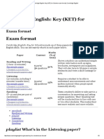 Cambridge English_ Key (KET) for Schools Exam Format _listening
