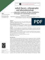 Grounded Theory, Ethnography, Phenomenology