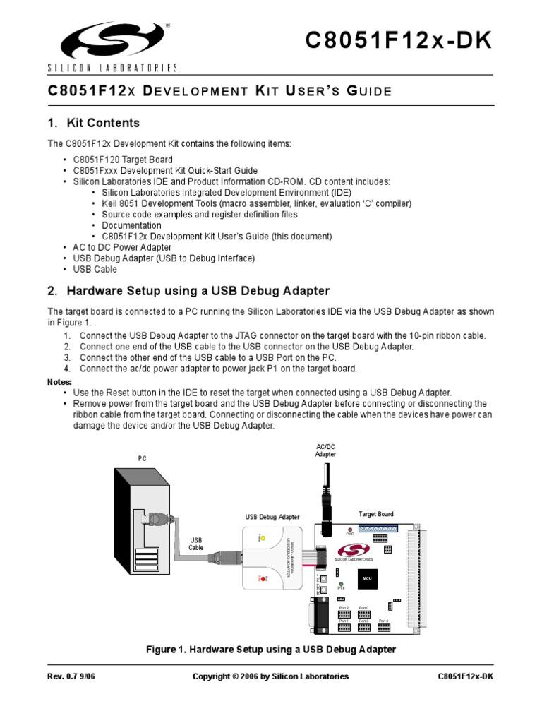 C8051f12x Dk1 Integrated Development Environment Usb Debug Cable Schematic