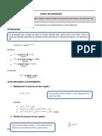 Algebra Pd Nº 01 Teoria de Exponentes.edgardoc