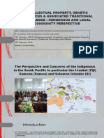 Pita Niubalavu Oceania Intellectual Property FJ - IP Genetic Resources and Assoc TK ~ Indigenous and Local Community Perspective - 15 Feb 2016