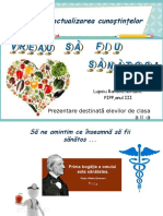 Mentinerea Starii de Sanatate .Dieta