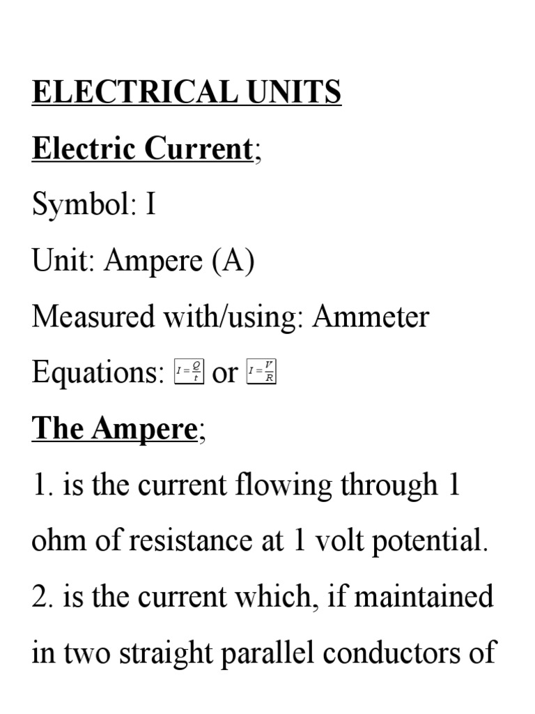 Form 3a1 4 Calculation And Measurement Of Electrical Quantities