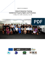 SPC - Fiji Cultural Industries Training - Intellectual Property Rights and Protection Workshp Report - May 2015