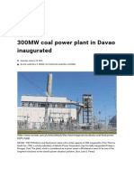 300MW coal power plant in Davao inaugurated.pdf