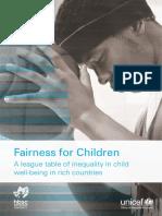 UNICEF Research - Innocenti Report Card 13 - Fairness for Children