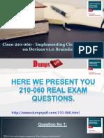 210-060 Practice Exam Questions