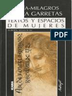 María-milagros Rivera Garretas, Textos y Espacios de Mujeres (Europa Siglos IV-XV)