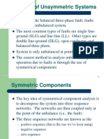 Unsym Faults and Sym Components