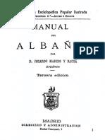 1879 Ricardo Marcos y Bausa Manual Del Albanil