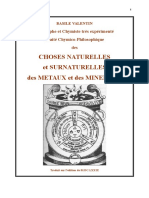 B.Valentin. Choses naturelles et surnaturelles des métaux et des minéraux