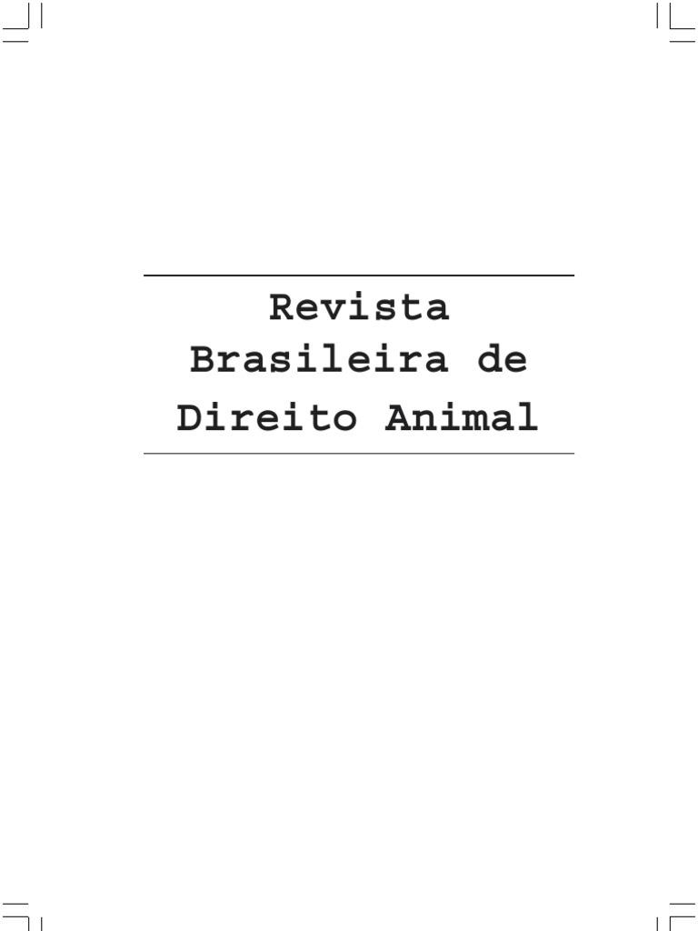 Revista brasileira de direito dos animais vol3 fandeluxe Choice Image