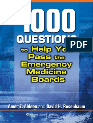 1,000 Questions to Help You Pass the Emergency Medicine