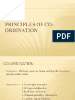 Principles of Co-Ordination