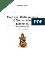 Maitreya Distinguiendo El Medio de Los Extremos.