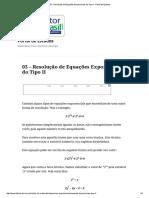 03 - Resolução de Equações Exponenciais do Tipo II - Portal de Estudos.pdf