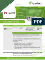Huawei Optix Metro - Carritech Telecommunications