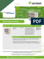 Nortel Optical Metro - Carritech Telecommunications