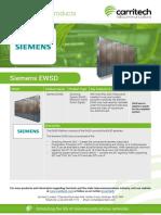 Siemens EWSD - Carritech Telecommunications