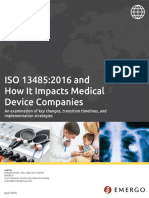 ISO 13485:2016 and how it impacts medical device companies