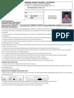 Ankit Admit Card