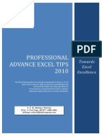 Professional Advance Excel Tips 2010