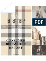 BURBERRY (Consumer's Behaviour Report)