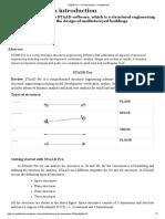 STAAD Pro – an Introduction – Sreejithknols